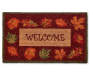 Harvest Leaves Welcome Coir Door Mat 18 Inches by 30 Inches Overhead Shot Silo Image