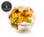 Harvest Pumpkin Crackle Glass LED Globe Silo