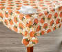 Harvest Pumpkins Tablecloth 52 Inches by 90 Inches On Table with Props Lifestyle Image