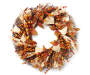 Harvest Red Berry and Burlap Wreath Silo