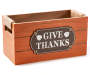 Harvest Small Orange Give Thanks Wooden Crate Silo