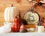 Harvest White Cable Knit Pumpkin Lifestyle Image