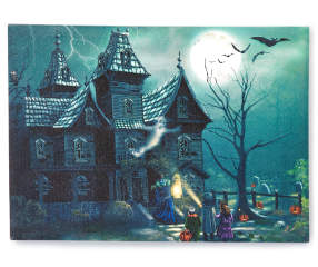 Haunted House Led Canvas With Sounds 14 Quot X 10 Quot Big Lots