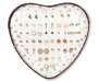 Heart Tin Earring Set 25-Pairs SIlo Opened Heart Tin Earrings View