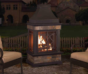 Heirloom 56 Quot Slate Outdoor Fireplace Big Lots