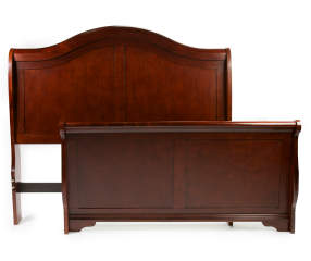 Henry queen sleigh bed headboard footboard 1 of 2 for Big lots twin bed