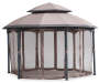 Heritage Hexagon Gazebo with Netting 13 Feet by 10 Feet With Nets Closed Silo Image