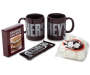 Hershey Mug and S'mores Gift Set with 2 Mugs Chocolate Bar Graham Crackers and Marshmellows Out of Package Silo Image