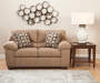 Hillspring Loveseat with Decorative Wall Fixture Room View