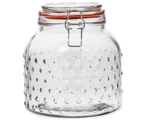 Home Essentials Hobnail Glass 3 Quart Canister With