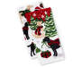 Holiday Dogs Kitchen Towels 2 Pack Stacked and Fanned Overhead View Silo Image