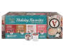Holiday Favorites 96 Count Variety Pack Single Serve Coffee and Hot Cocoa Mix silo front package view