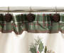 Holiday Pinecones Shower Curtain and Hooks Set Close Up on Pinecone Shower Rings Silo Image