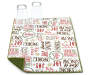 Holiday Words Christmas Reversible Dish Drying Mat Corner Folded with Cups Silo Image