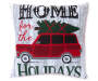 Home For The Holidays Throw Pillow Front Silo