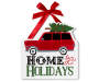 Home For The Holidays Wall Plaque Overhead Shot Silo