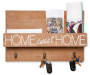 Home Sweet Home Wooden Box with Hooks Silo Image with stationary props