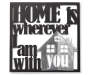 Home is With You Metal Wall Decor Overhead Shot Silo Image