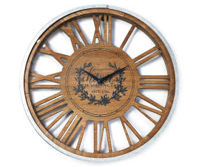 Quot Home With You Quot Wood Amp Metal Wall Clock Big Lots