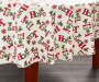 Hope Joy Noel Round Christmas Tablecloth 60 Inches on Round Table Room View