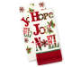 Hope and Noel Christmas Kitchen Towels 2 Pack Stacked and Fanned Silo Image