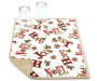 Hope and Noel Christmas Reversible Dish Drying Mat with Corner Folded and Glass Props Silo Image