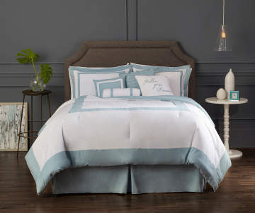 Bedding For The Home Big Lots - Blue and grey comforter sets queen