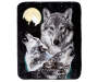Howling Wolves Throw Blanket Overhead View Silo Image