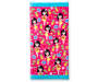Hula Girl Beach Towel 30 Inches by 60 Inches Overhead View Silo Image