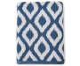 Ikat Blue Bath Towel Silo