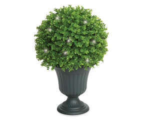 Wilson Amp Fisher Round Pre Lit Led Topiary Bush 25