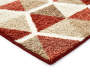 Illusions Red and Brown Accent Runner 1 Feet 8 Inches by 5 Feet Close Up Corner Silo Image