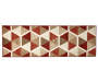 Illusions Red and Brown Accent Runner 1 Feet 8 Inches by 5 Feet Overhead View Silo Image