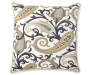 Indigo Grand Estate Throw Pillow Front View with Design Silo Image