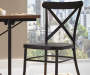 Industrial Wood and Metal 5 Piece Dining Set lifestyle
