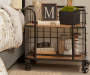 Industrial Wood and Metal Trolley Bar Cart lifestyle