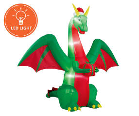 Winter Wonder Lane Inflatable Christmas Dragon 8 Big