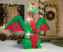 Inflatable Christmas Dragon 8 Feet Outdoor Environment Lifestyle Image