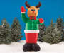 Inflatable Light-Up Nutcracker, (8')