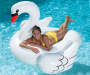 Inflatable Swan Pool Float in Pool with Girl Lifestyle Image