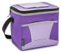 Insulated 9-Can Purple and Gray Cooler Tote