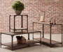 Irwin Wood and Metal End Table collection