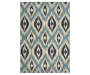 Izlar Blue Area Rug 5FT3IN x 7FT6IN Silo Image