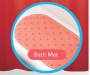 JH BATH MAT 14PC W/SHOWER CURTAIN CORAL
