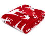 JUST HOME RED REINDEER SOFT THROW