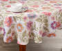 Jacobean Floral Fabric Round Tablecloth 70 Inches On Table with Props Lifestyle Image