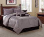 Jacquard Geo 7-Piece King Comforter Set Room Scene