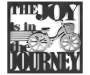 Joy in The Journey Silver Bike Wall Décor Silo