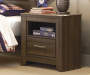 Juararo Brown Storage Nightstand