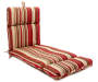 Jules Floral & Stripe Reversible Outdoor Chaise Cushion